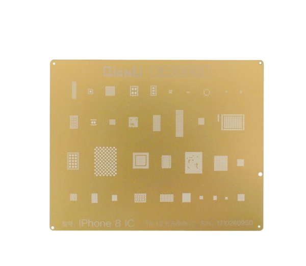Stencil Gold iPhone 8 To.12 Qianli