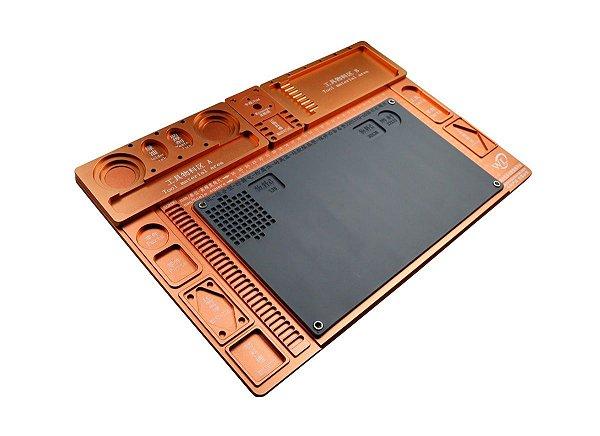 Base Plataforma para Microscopio Aluminio WL Bronze