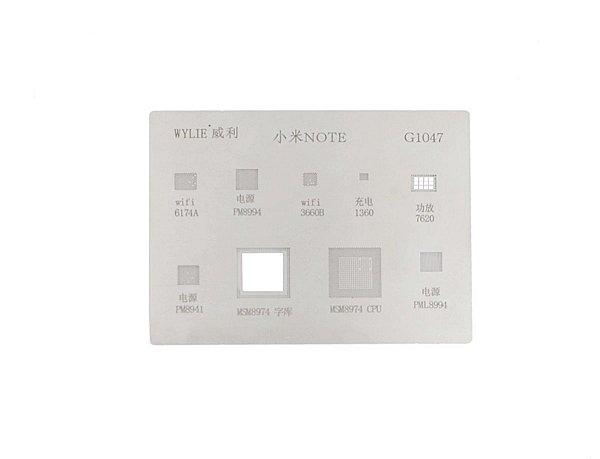 Stencil Reballing BGA Wylie G1047 para Xiaomi Note