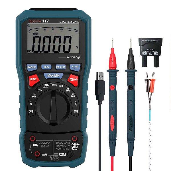 Multimetro Digital  Bolyfa BF117 USB