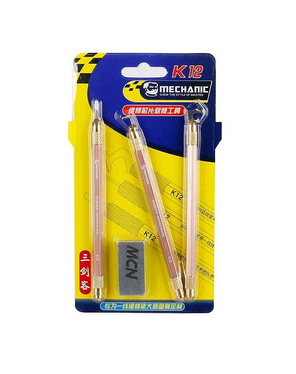 Espatula Bisturi Profissional Mechanic k12 kit com 3 peças