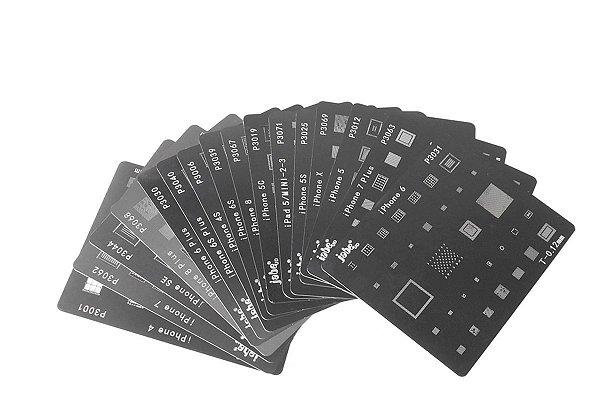 Kit De Stencil Reballing Bga iphone 4 ao XR 16 peças