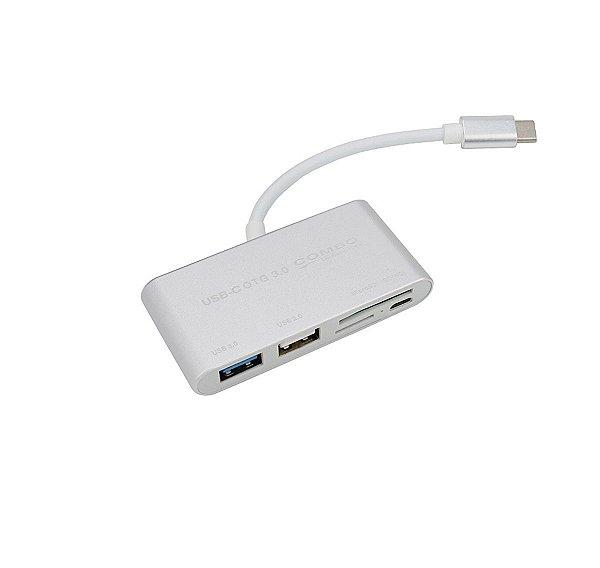 HUB OTG USB Tipo C 5 em 1