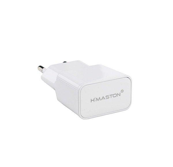 Fonte USB 2.1A H'maston F001 branco