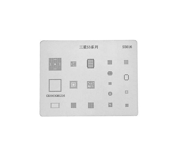 Kit Stencil Para Reballing E Bga Samsung 11 peças