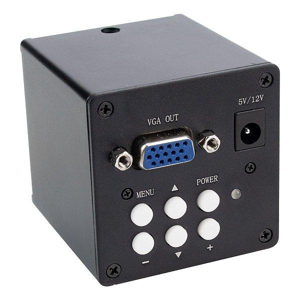 Câmera Vga Para Microscópio Preta C mount