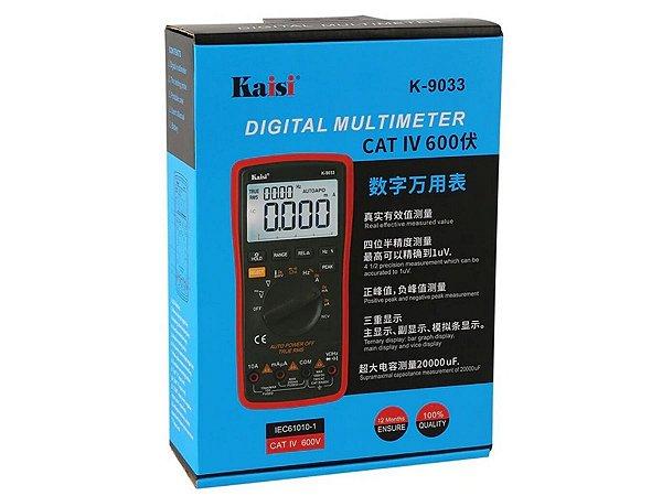 Multímetro Digital 9033 CAT IV 600v IEC61010-1