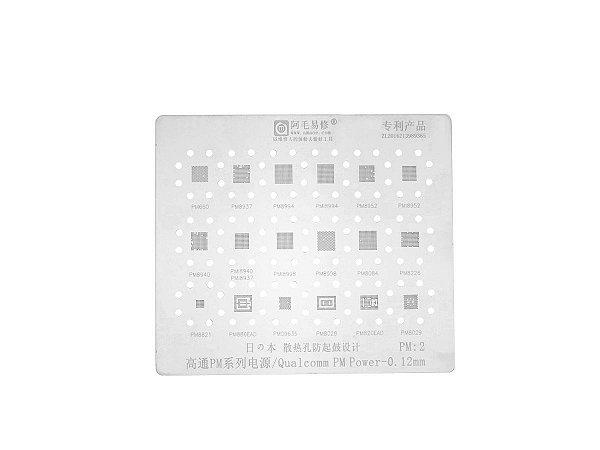 Stencil Qualcomm PM Power 0.12mm Amaoe PM2