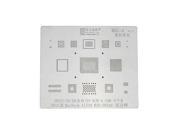 Stencil MacBook 2016 A1534 820 00244 SR2ZY CPU 0.12mm Amaoe MAC4