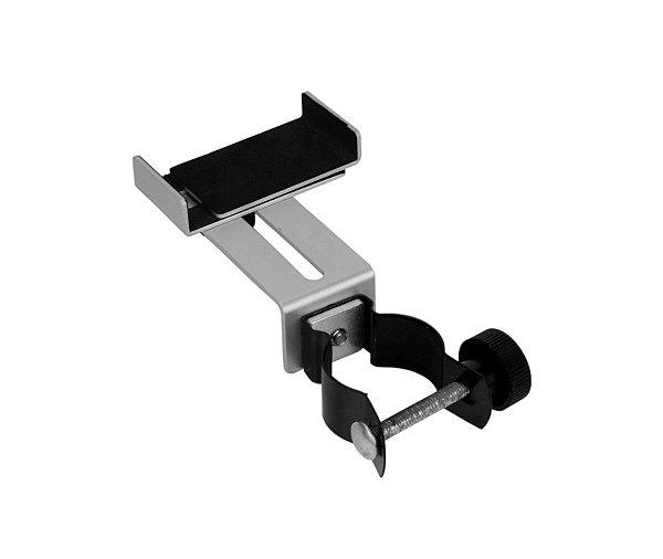 Adaptador de celular metalico para lente de Microscopio