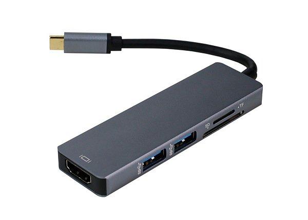 HUB OTG USB Tipo C HDMI 5 em 1
