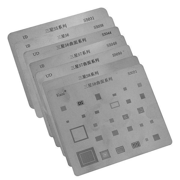Kit Stencil Samsung Serie S5 S6 S6P  S7 S7P S8 S8P