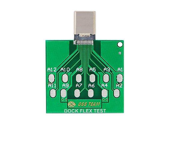 Placa De Teste Tipo C Dock Flex Teste De Bateria tipo c