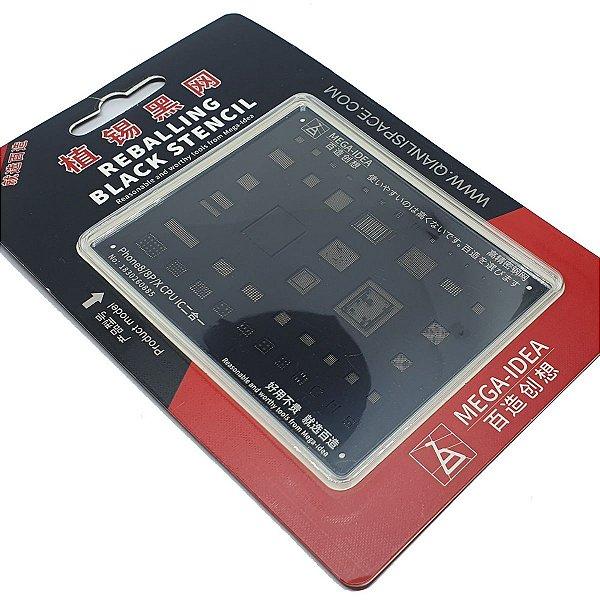 Kit Stencil Mega idea  Black CPU iPhone 6 A 11 Pro Max 5 peças