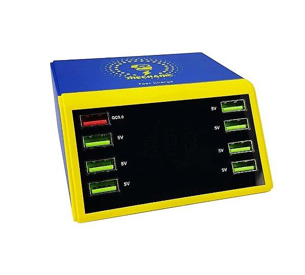 Carregador USB Medidor De Corrente E Tensão Mechanic 8P