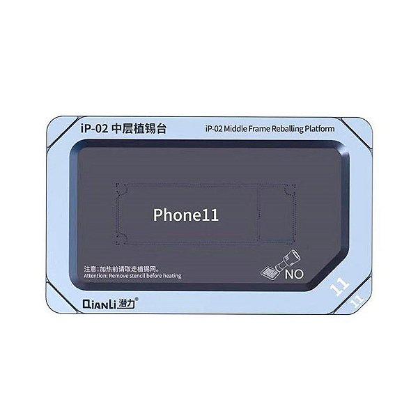 Plataforma Base Metal Qianli IP-02 Reballing 11 11 PRO 11 Pro Max