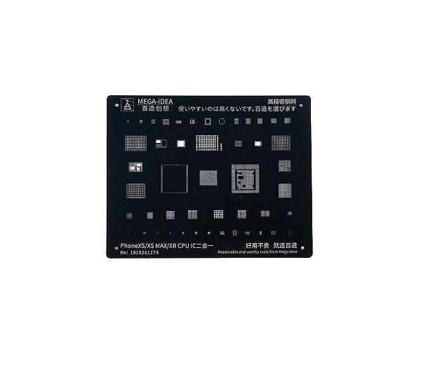 Stencil Mega idea Black iPhone XR XS XS Max