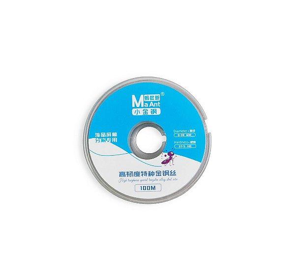 Fio De Aço Separar LCD 0.08mm 37.5 HB MaAnt 100mts
