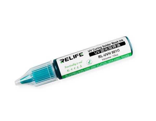 Tinta Uv Pcb Mascara Uv Relife Rl-Uvh901G 10Cc Verde
