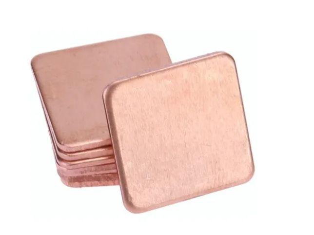 kit 10 Pads de Cobre Dissipador de Calor 15mmx15mm