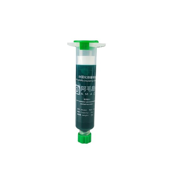 Tinta Uv Pcb Mascara Uv Amaoe M56 10Cc Seringa Verde