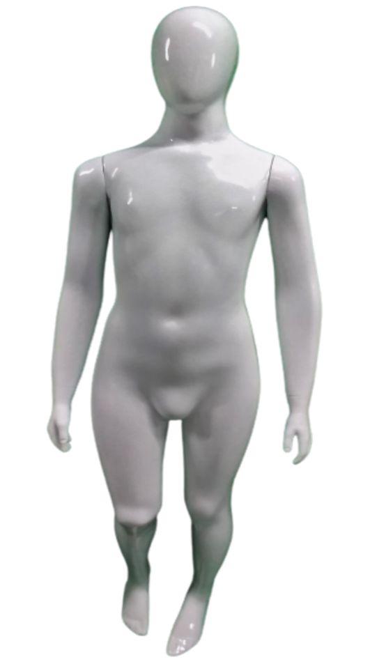 Manequim Juvenil Masculino Branco de Fibra Luxo Com Pintura Automotiva de Alta Resistência Com Base- 13 a 16 anos - 152 CM Altura x 40 CM Largura x 18 CM Profundidade - Pronta Entrega- Estoque Limitado