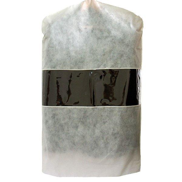 Capa para Terno Bege com Visor Central 100cm x 60 cm - Lavável - CAIXA 15 Peças - Produto 100% Nacional - Fazemos sob encomenda Whats (11) 97143-1706