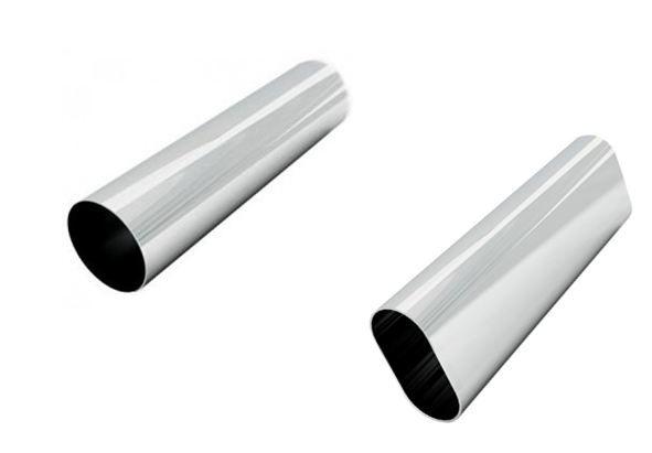 Tubos  com Perfil Redondo e Oblongo com Acabamento Lateral - 60 a 150 cm -  10 UNIDADES - Preto, Branco ou Cromado - Tempo de fabricação  até 10 dias úteis- Clique na foto para ver detalhes