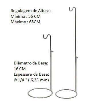 5 Expositor de Bolsa Cromado Com Regulagem de Altura ( 36 á 63 cm) - Tempo de Fabricação até 10 dias úteis