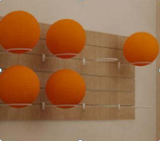 5 Suportes  de Bola Suiça ou Pilates Painel Canaletado - Bolas Entre 45 e 85 cm - Branco- Preto e Cromado