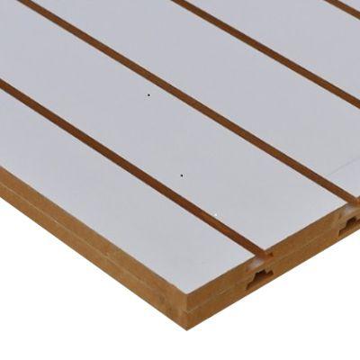 Painel Canaletado Branco 90 cm Altura x90 CM de Largura  x 10 cm entre Canaletas- 8 Perfis  - MDF de 18 mm