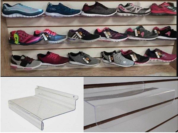 30 Plataformas para Calçados Adultos - Transparente em Acrílico - 14cm (Profundidade) x 24cm 9Comprimento)