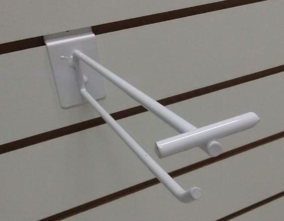 Gancho Porta Preço Para Painel Canaletado Super Reforçado -  Diâmetro 6,35mm - Base : 5 Largurax9 Altura cm - 15 a 35 CM -  CAIXA COM 100 PÇS - Branco, Preto ou Cromado - Prazo de Fabricação até 10 dias uteis- Clique na Foto para ver detalhes