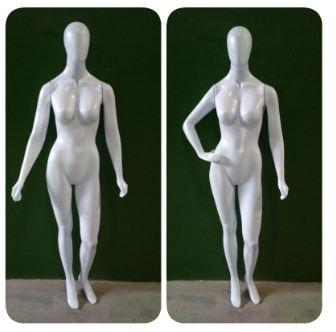 Manequim Feminino - Linha Econômica- Corpo Inteiro Branco Modelo Bonita  ( Plástico) + Base 30x30 Grátis- Altura : 1,8 m - Tempo de produção 7 dias  uteis - Frete não Incluso