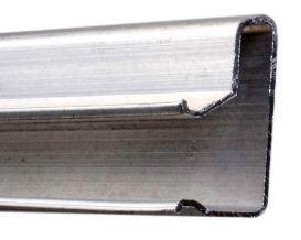 """Canaleta para Painel Canaleta de Metal """" Alumínio"""" Super resistente - 2,44 e  2,75 M -  Caixa com 10 Peças - Clique na foto para ver detalhes - Frete não incluso"""