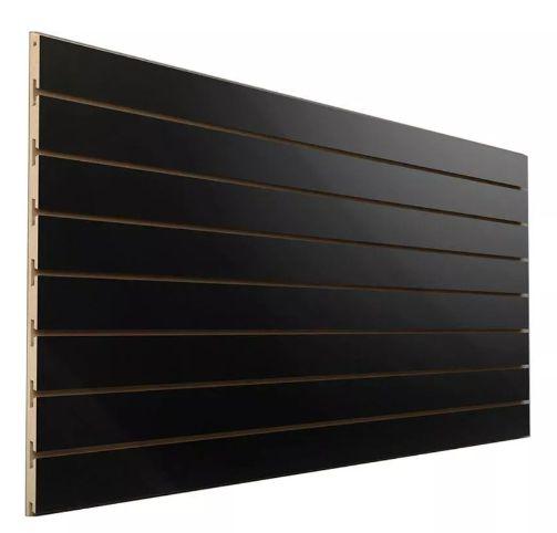 1 Painel Canaletado Preto 1,83 M Altura x 2,75 M Largura (17 frisos, com 10cm de distância) MDF 18mm