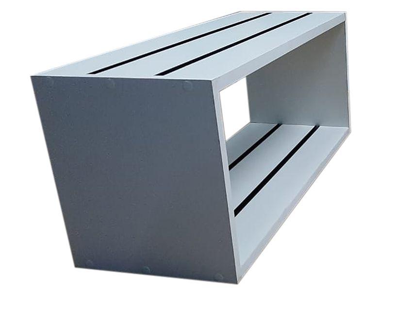 3 Nichos de MDF Branco Canaletado de 18 mm com Canaletas de PVC na Horizontal ( Escolher a cor da canaleta abaixo)- 70 cm largura x 30cm de altura x 30cm de profundidade -  Fazemos sob medida Whats (11) 97143-1706