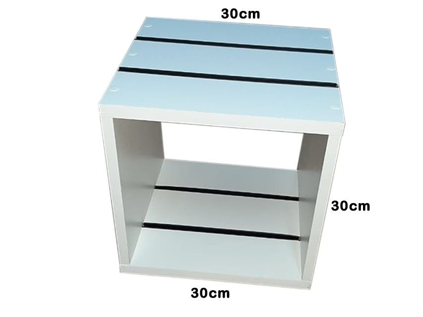 3 Nichos Compacto Reforçado de MDF Branco Canaletado de 18 mm com Canaletas de PVC na Horizontal ( Escolher a cor da canaleta abaixo)- 30 cm largura x 30cm de altura x 30cm de profundidade - Fazemos sob medida Whats (11) 97143-1706