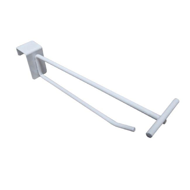 50 Ganchos  Porta Preço BRANCO com Etiquetas de PVC - Para Barra 20x30 - Diâmetro : 4,76 mm Reforçado-  Haste de baixo com 20 ou 30 cm - Pronta entrega
