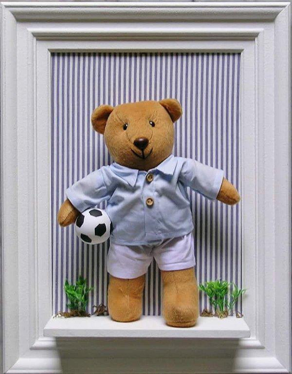Quadro ursinho em tema esportivo personalizado
