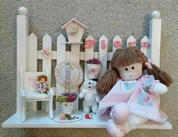 Enfeite porta maternidade boneca