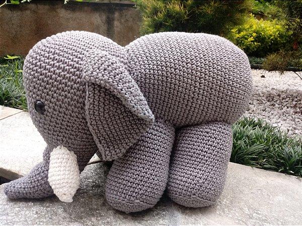 Elefantinho crochet Amigurumi