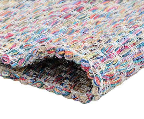 Tapete artesanal mescla colorida