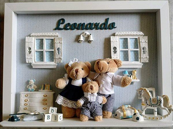 Enfeite porta maternidade família ursinhos