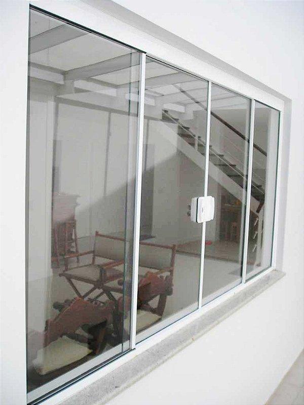 Janela de correr em vidro temperado 1,20 x 1,50