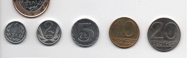 Set Moedas da Polônia