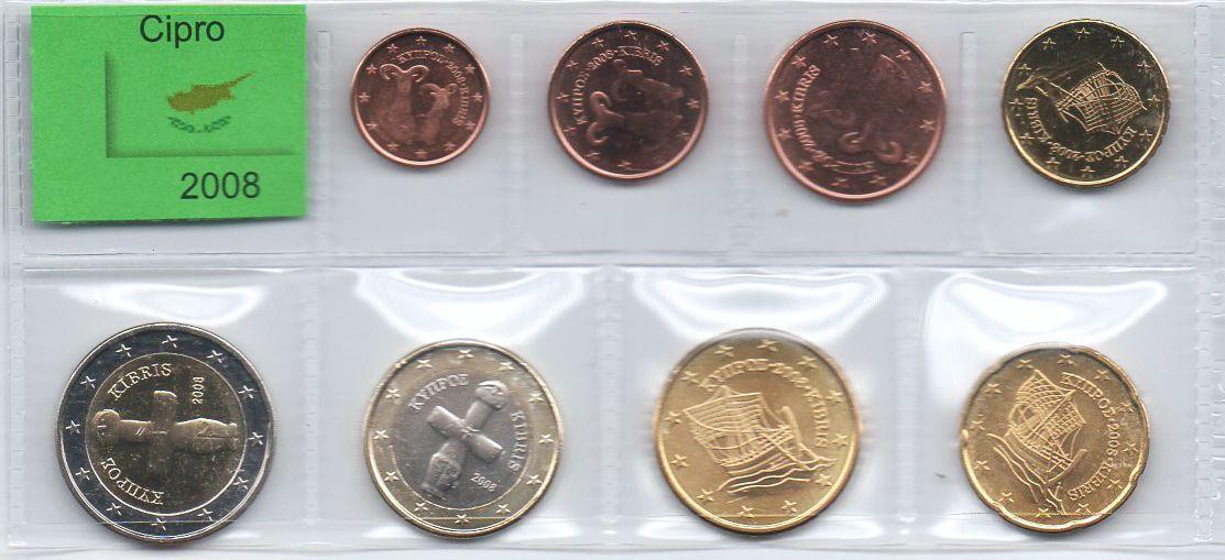 set de moedas de Chipre - Euro
