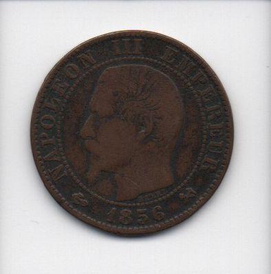 Moedas de 5 centimos de 1856 - França(2)