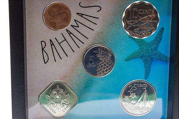 Display de Plástico - Bahamas com 5 moedas