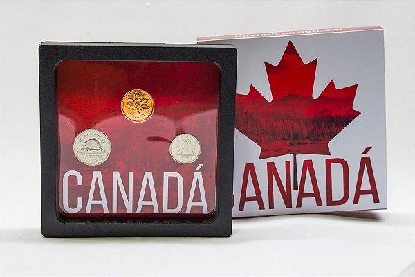 Display de Plástico - Canadá com 3 Moedas